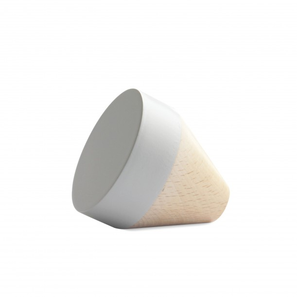 Wook conical Light Grey Hook Small Diam 60 x 60 mm Archiv Collection