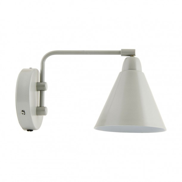 Wall Lamp Light Grey Game Small pivot arm House Doctor