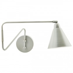 Wall Lamp Light Grey Game Large pivot arm House Doctor