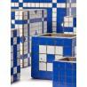 Cubic Concrete Pot Marie Mosaic Blue 15 x 15 x 15 cm Serax