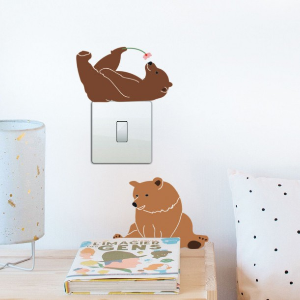 Sticker Mural Just a Touch Lazy Bears Mimilou