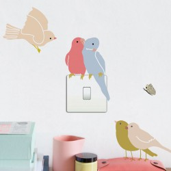Wall Sticker Just a Touch Birds on Light Mimilou