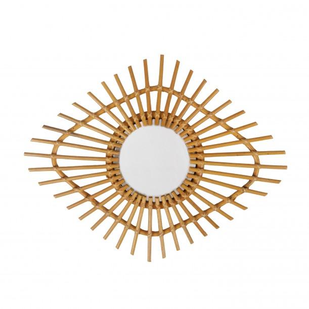Small Rattan Vintage Mirror Mata Bakker