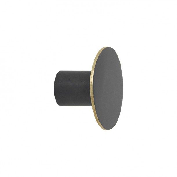 Hook Black Brass Small Diam 4 x 2,5 cm Ferm Living