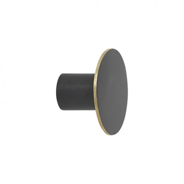 Hook Black Brass Small Diam 4 x 2,5 cm Ferm Living