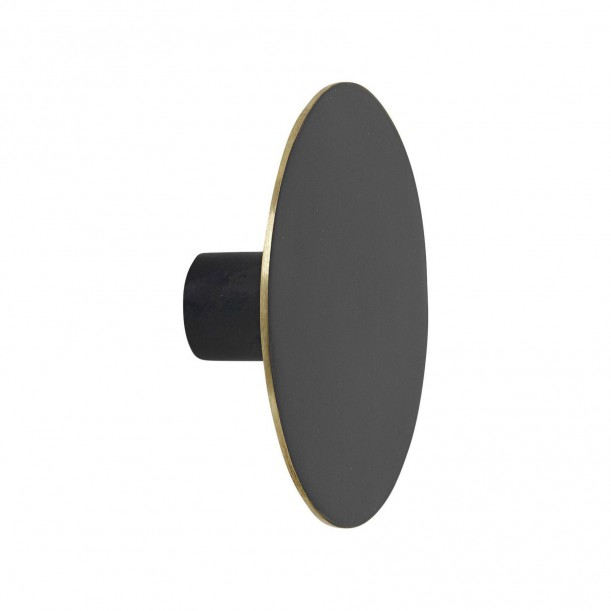Hook Black Brass Large Diam 7 x 2,5 cm Ferm Living