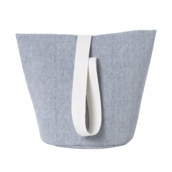 Chambray Basket Blue Medium Diam 35 x H 42 cm Ferm Living