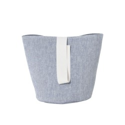 Chambray Basket Blue Small Diam 22 x H 25 cm Ferm Living