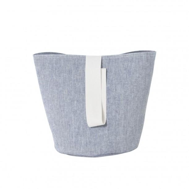 Chambray Basket Blue Small Diam 22 x H 25 cm Ferm Living