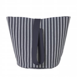 Chambray Basket Striped Blue Medium Diam 35 x H 42 cm Ferm Living