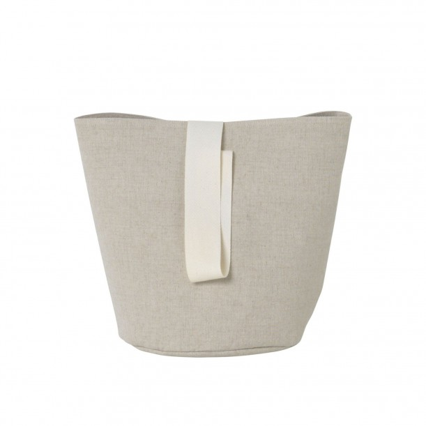 Chambray Basket Sand Small Diam 22 x H 25 cm Ferm Living
