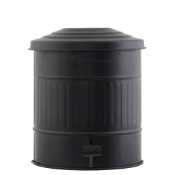 Vintage Pedal Bin Matt Black 15 L House Doctor