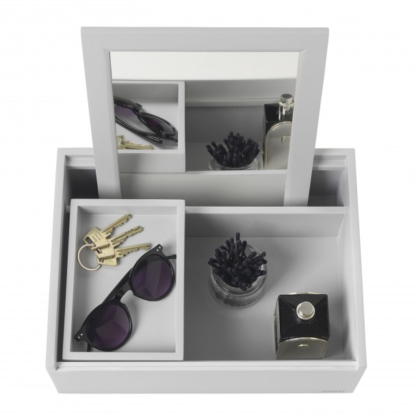 Jewelry Box Beauty Station Mini Balsabox Light Grey Nomess Copenhagen