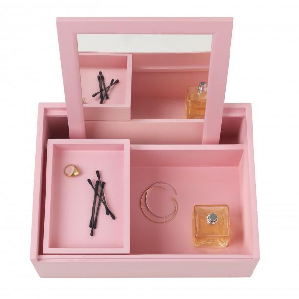 Jewelry Box Beauty Station Mini Balsabox Pink Nomess Copenhagen