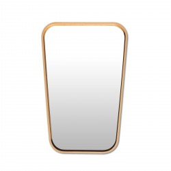 Mirror Trapeze Vintage Beech Small 47 x 31 cm Archiv Collection
