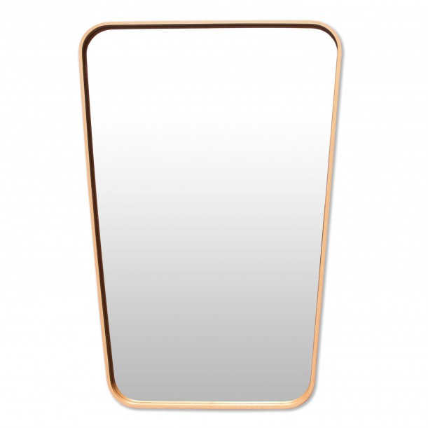 Mirror Trapeze Vintage Beech Large 70 x 47 cm Archiv Collection