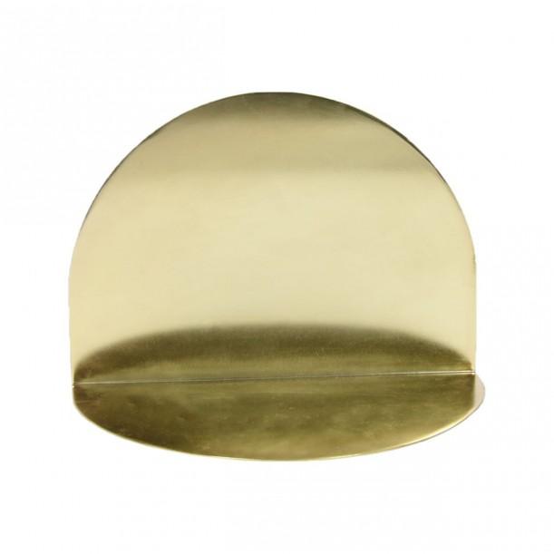 Shelf Archal Half Moon Brass M 28 x 16 cm Eno