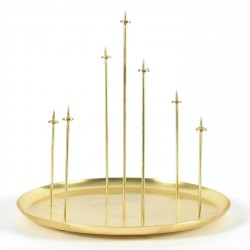 Bougeoir Metal Multi Candle Pin Laiton Eno