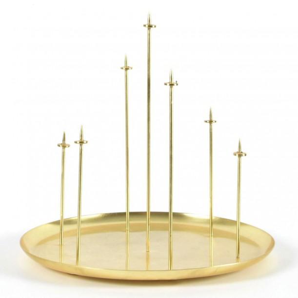 Bougeoir Metal Multi Candle Pin Laiton Eno