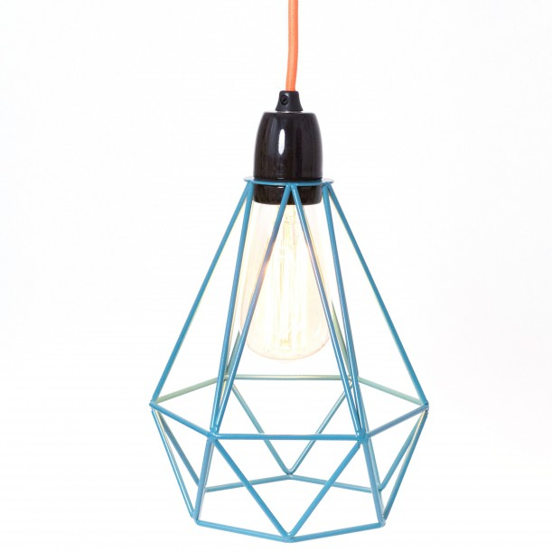 Lampe à Poser Diamond 1 Bleu et Orange Filament Style