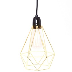 Table Lamp Diamond 1 Gold and Black Filament Style