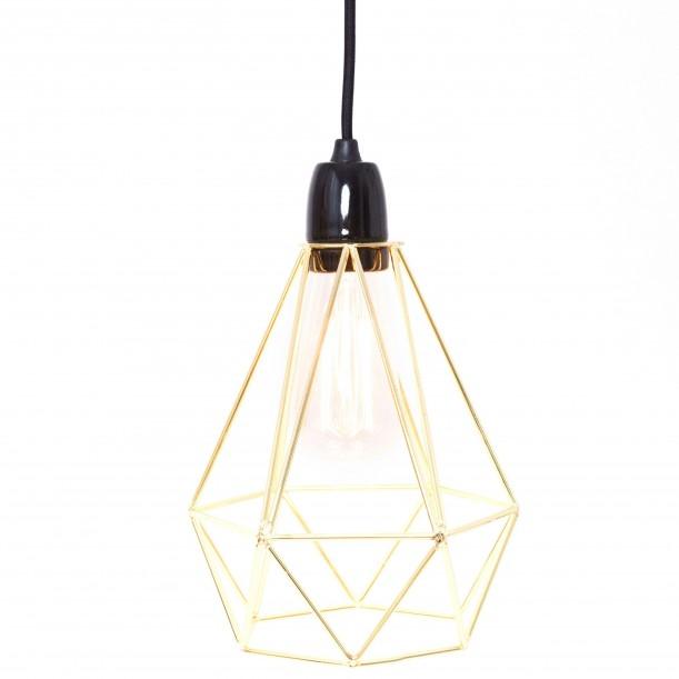 Lampe à Poser Diamond 1 Or et Noir Filament Style