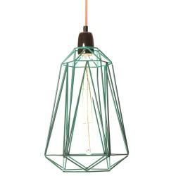 Lampe à Poser Diamond 5 Bleu et Orange Filament Style