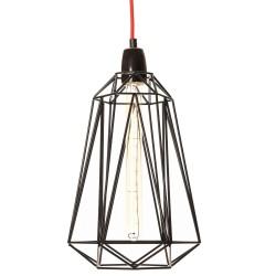 Lampe à Poser Diamond 5 Noir et Rouge Filament Style