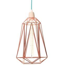 Lampe à Poser Diamond 5 Cuivre et Bleu Filament Style