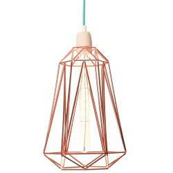 Table Lamp Diamond 5 Copper and Blue Filament Style