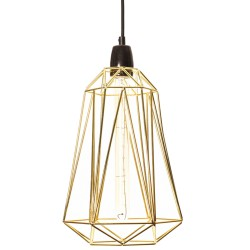 Table Lamp Diamond 5 Gold and Black Filament Style