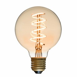 Spiral LED Bulb Globe Diam 80 mm Filament Style