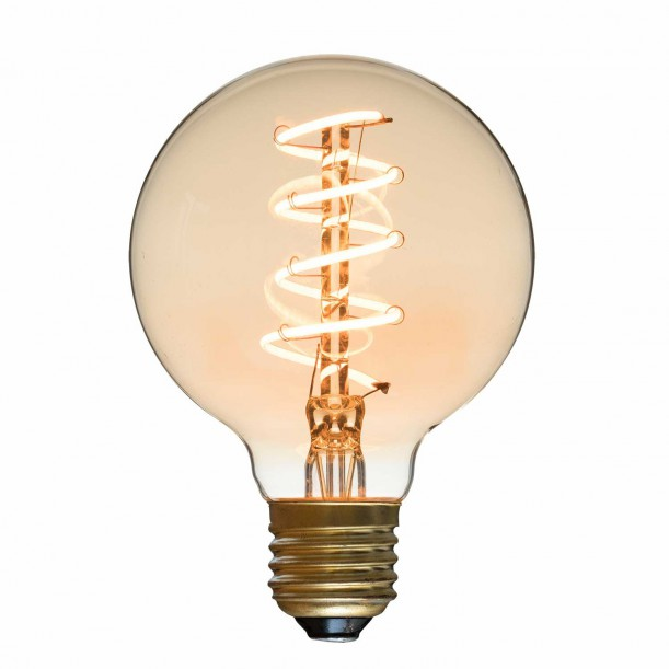 Ampoule LED Spiral Globe Diam 80 mm Filament Style