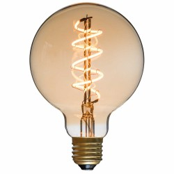 Spiral LED Bulb Globe Diam 95 mm Filament Style