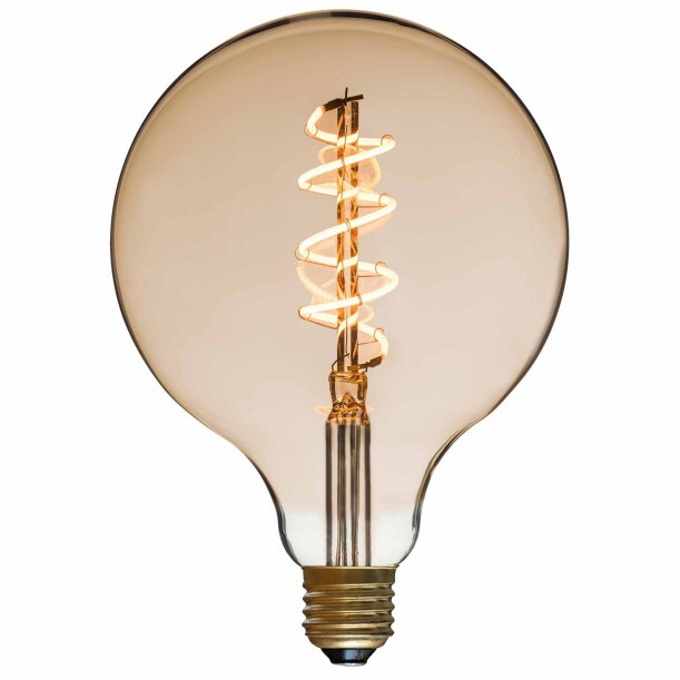 Ampoule LED Spiral Globe Diam 125 mm Filament Style