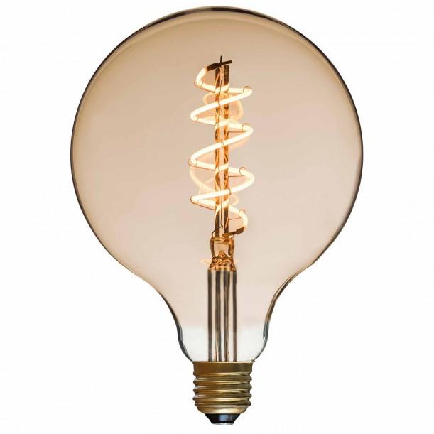 Spiral LED Bulb Globe Diam 125 mm Filament Style