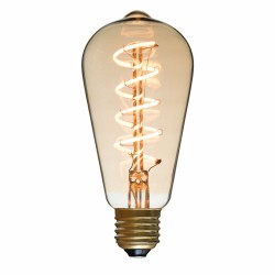Spiral LED Bulb Drop Diam 64 mm Filament Style