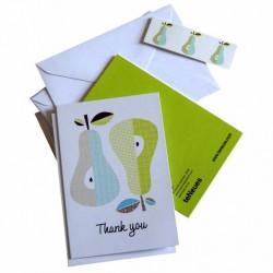 Cartes et Enveloppes Poires