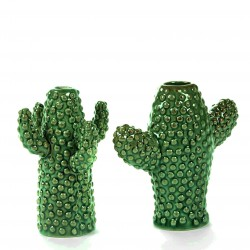 Cactus Vase Mini Green Porcelain set of 2 H 12 cm Serax