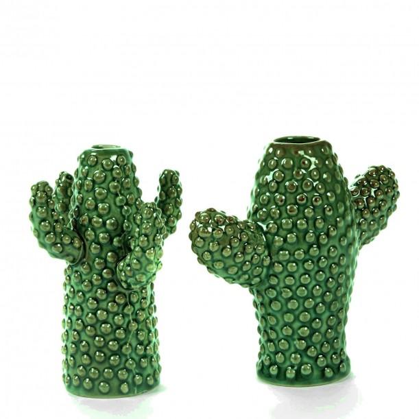 Vase Cactus Mini Porcelaine Verte set de 2 H 12 cm Serax