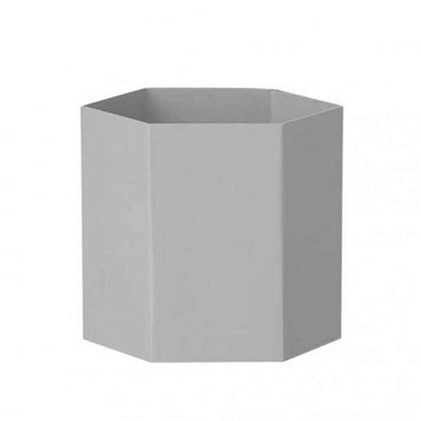 Large Hexagon Pot Light Grey Ferm Living