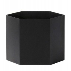 Pot Hexagon Extra Large Noir Ferm Living