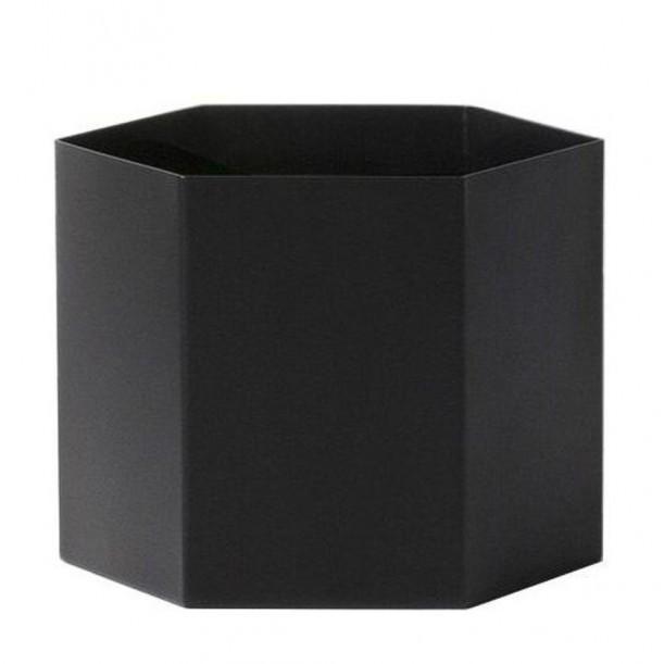 Extra Large Hexagon Pot Noir Ferm Living