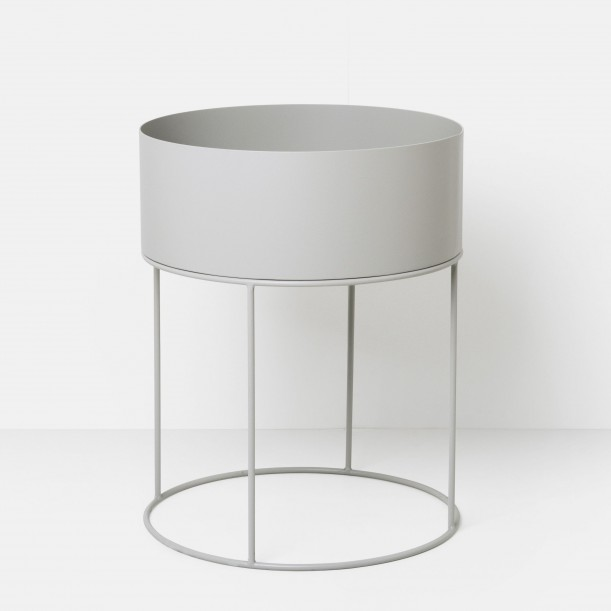 Jardiniere Light Grey Plant Box Round Ferm Living
