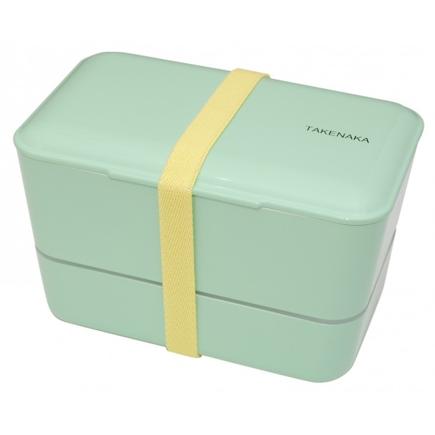 Bento Box Expended Double Peppermint L 110 x w 109 x h 109 mm Takenaka