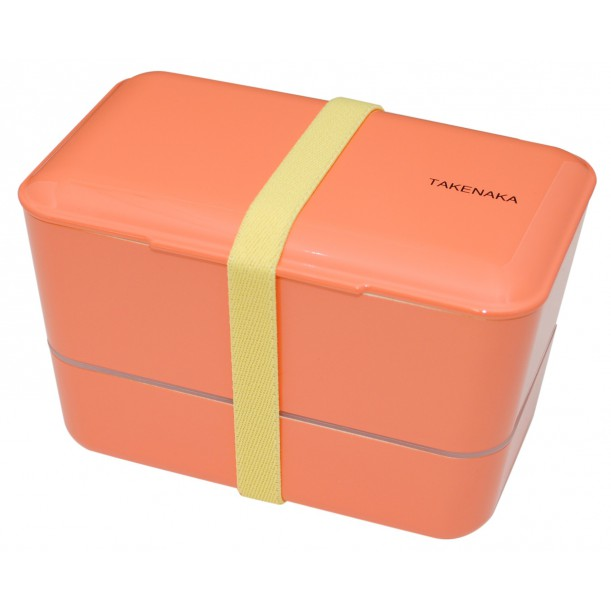 Bento Box Expended Double Coral L 110 x w 109 x h 109 mm Takenaka