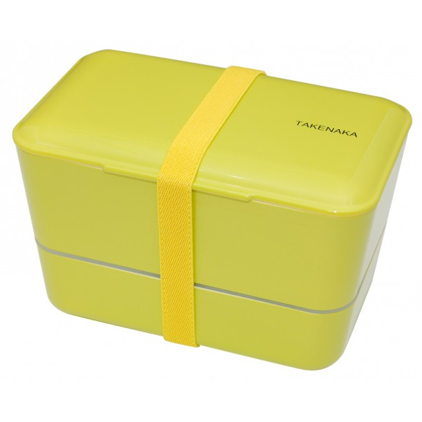 Bento Box Expended Double Green L 110 x w 109 x h 109 mm Takenaka