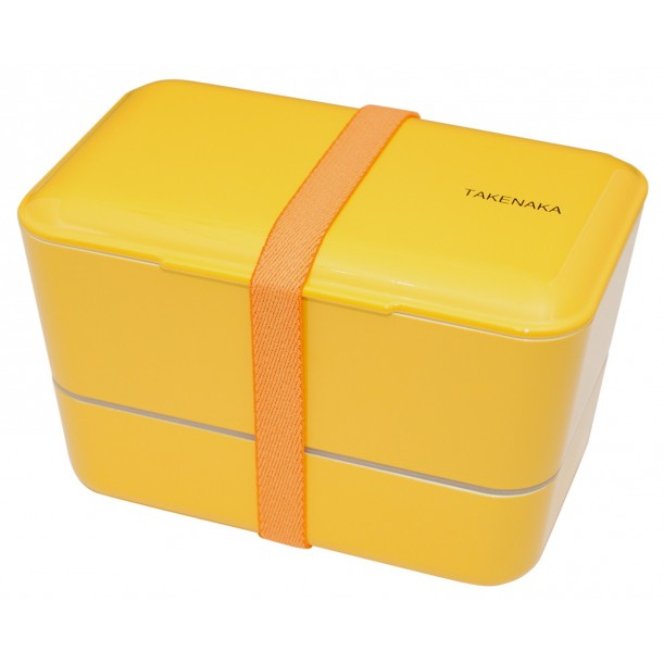 Bento Box Expended Double Yellow L 110 x w 109 x h 109 mm Takenaka