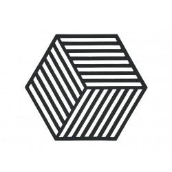 Dessous de Plat Hexagon Noir 16 x 14 cm Zone Denmark