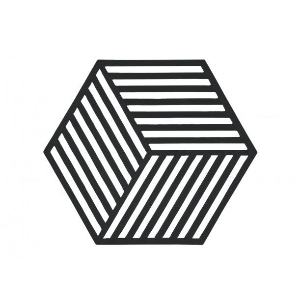 Trivet Hexagon Black 16 x 14 cm Zone Denmark
